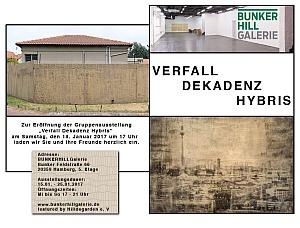 Logo Ausstellung Bunkerhillgallery Verfall-Dekadenz-Hybris