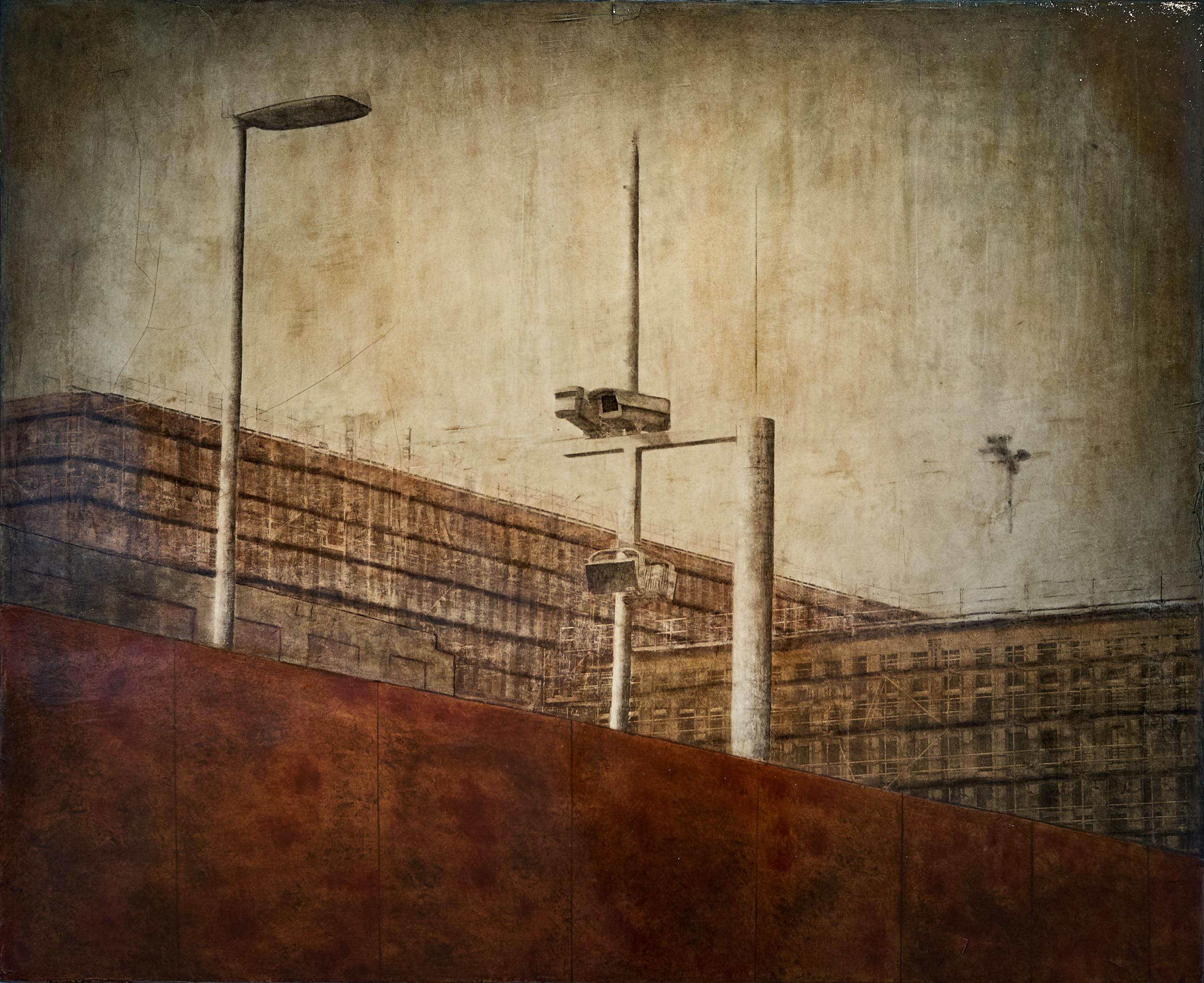 Überwachungskamera auf BND-Baustelle